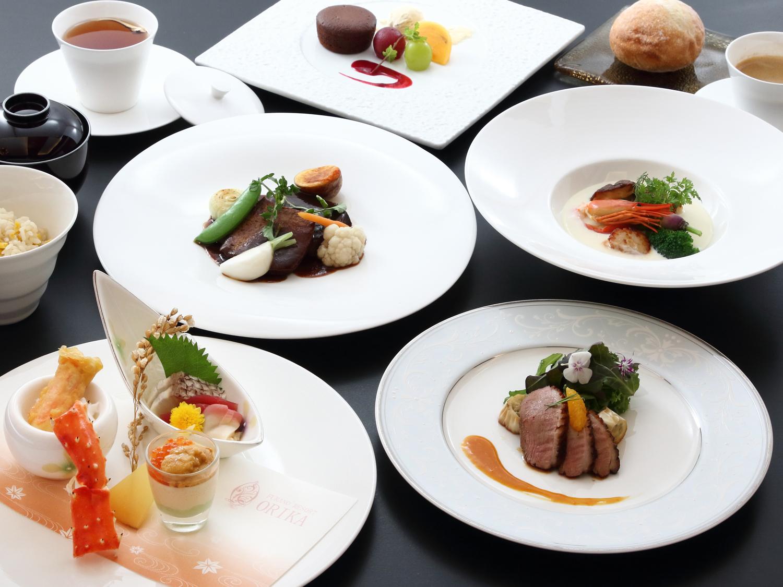 夕食イメージ画像 和洋折衷コース料理